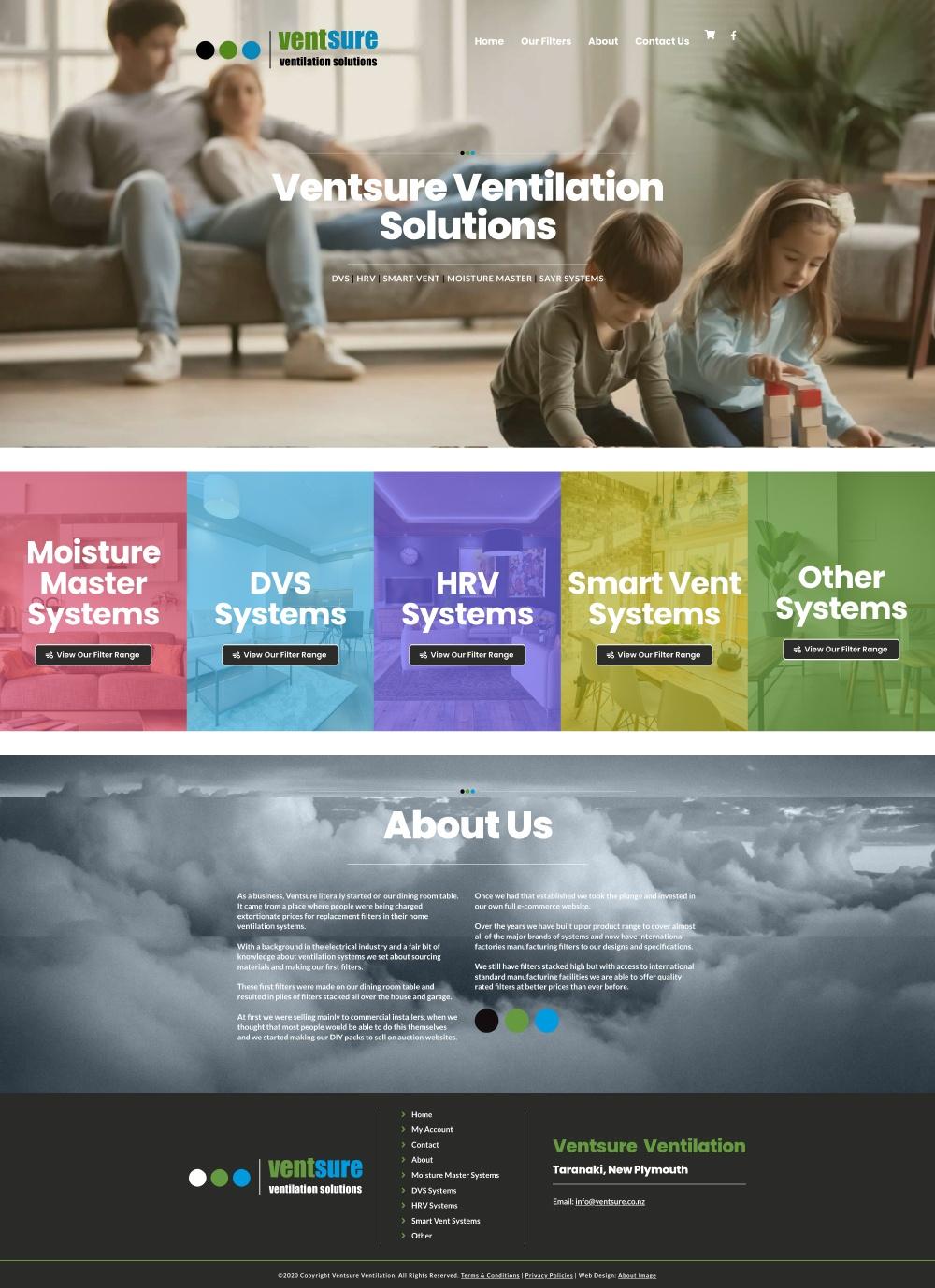 Ventsure Home Page